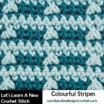 Colorful Stripes Crochet Stitch Tutorial by Oombawka Design
