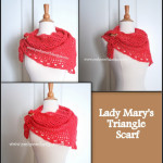 Lady Mary's Triangle Scarf by Sara Sach of Posh Pooch Designs