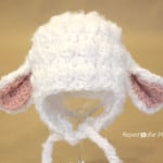 Crochet Lamb Hat by Repeat Crafter Me