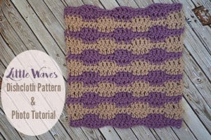 Little Waves Stitch Tutorial and Dishcloth by The Stitchin' Mommy