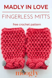 Madly In Love Fingerless Mitts by Moogly