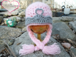 Newborn Princess Hat with Braids by Stitch11