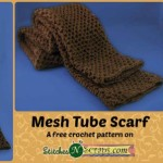 Mesh Tube Scarf by Stitches 'N' Scraps