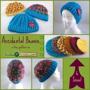 Accidental Beanie by Stitches 'N' Scraps