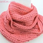 Pink Fantasy Infinity Scarf by Kim Guzman of CrochetKim