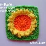 Stash Bustin' Sunflower In A Square by Stitch11
