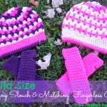 Matching Child Size Slouch and Fingerless Gloves by Stitch11