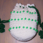 Beaded Shamrock Bag by Suzies Stuff