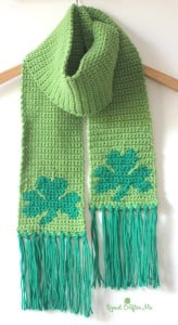 Shamrock Scarf by Repeat Crafter MeShamrock Scarf by Repeat Crafter Me
