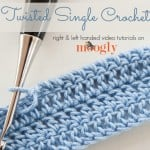Twisted Single Crochet by Moogly