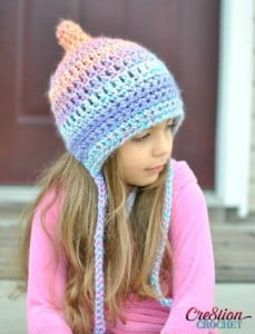 Unique Pixie Bonnet Style Crochet Hat by Cre8tion Crochet