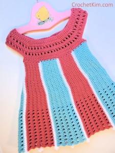 Carousel Baby Dress by Kim Guzman of Crochetkim