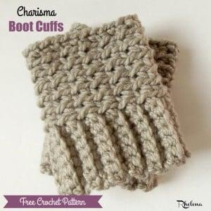 Charisma Boot Cuffs by Rhelena of CrochetN'Crafts