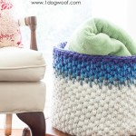 Color Block Crochet Basket by One Dog Woof