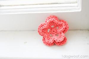 5 Petal Crochet Flower by One Dog Woof