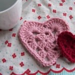 Granny Square Hearts by Crochet Again