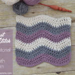 Ripple Stitch Tutorial and Dishcloth by The Stitchin' Mommy
