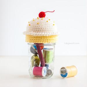 Cupcake Pincushion Sewing Kit by One Dog Woof