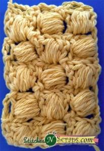 Diagonal Puff Stitch by Stitches 'N' Scraps