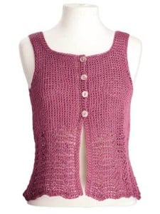 Elisa Sleeveless Top by Kim Guzman of CrochetKim