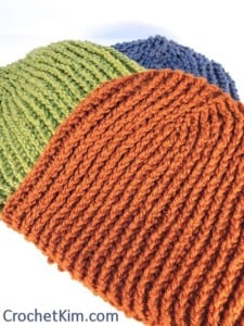 Favorite Beanie for Men by Kim Guzman of CrochetKim