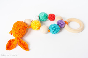Bubbles and Goldfish Teether by One Dog Woof