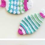 Crochet Fish Scrubbie Washcloths by One Dog Woof
