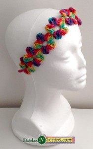 Chain of Flowers Headband by Stitches 'N' Scraps