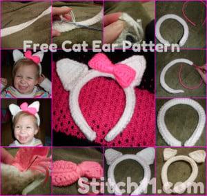 Cat Ear Pattern by Stitch11