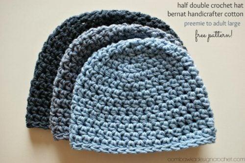 Half Double Crochet Hat Free Crochet Pattern
