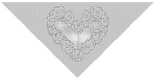 Heart of Flowers Shawl by Kim Guzman of CrochetKim
