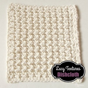 Lacy Textures Dishcloth by Rhelena of CrochetN'Crafts