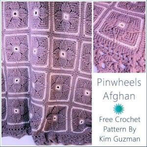 Pinwheels Afghan by Kim Guzman of CrochetKim