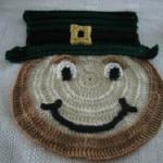 Leprechaun Placemat by Donna's Crochet Designs