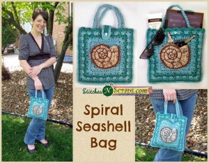 Spiral Seashell Bag by Stitches 'N' Scraps