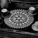 Irish Crochet Doily by Free Vintage Crochet