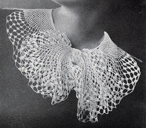 Butterfly Colar #2028 by Free Vintage Crochet