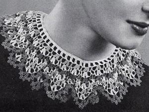 Festoon Collar by Free Vintage Crochet