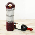 Felted Wine Tote by Petals to Picots
