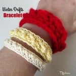 Winter Drifts Bracelet by Rhelena of CrochetN'Crafts