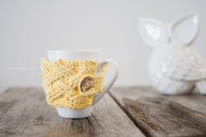Woven Cables Mug Cozy by One Dog Woof