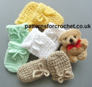 3-6 Month Baby Mitts by Patterns For Crochet