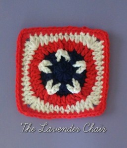 Stars and Stripes Square by Dorianna Rivelli of The Lavender Chair