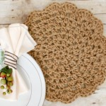 Jute Crochet Placemats by Petals to Picots