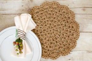 Jute Crochet Placemats by Petals to Picots