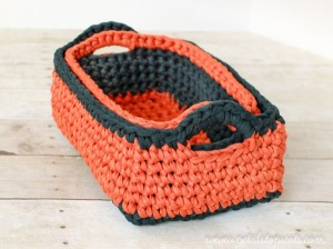 Rectangular Basket - Two Nesting Sizes by Petals to Picots