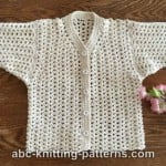 Sweet Summer Baby Cardigan by ABC Knitting Patterns