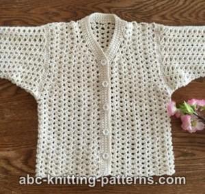 Summer Baby Knitting Patterns : Sweet Summer Baby Cardigan by ABC Knitting Patterns - Crochet Pattern Bonanza