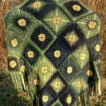 Summer Meadow Motif Shawl by ABC Knitting Patterns
