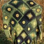 Summer Meadow Motif Shawl by ABC Knitting Patterns